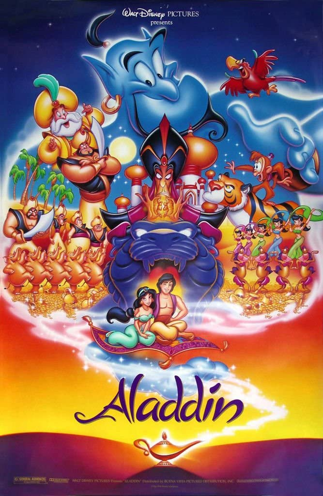 Disney's ALADDIN - 18X27 Original Promo Movie Poster - Rare 1992 ...