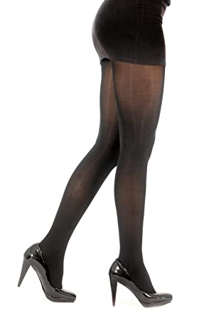 dc38a13a6 2pk 40 Denier Velvet Touch Opaque Tights with Temperature Control   Amazon.co.uk  Clothing