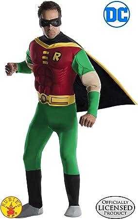 Batman - Disfraz de Robin musculoso para hombre, Talla S adulto ...
