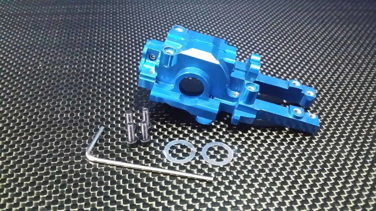 Traxxas 1/16 Mini E-Revo Upgrade Parts Aluminium Rear Gear Box - 2 Pcs Set Blue
