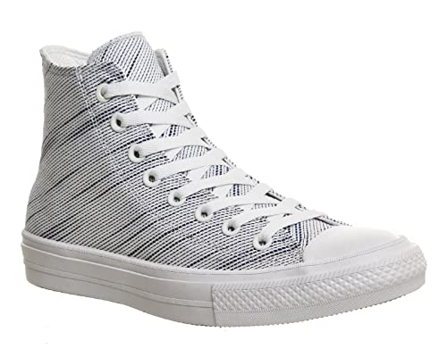 fafe124fdef6 Converse Chuck Taylor All Star II Knit Hi White Roadtrip Blue Navy Textile  Athletic Shoes  Amazon.ca  Shoes   Handbags