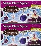 Celestial Seasonings Sugar Plum Spice Herbal Holiday Tea Bags, 20 ct, 2 pk