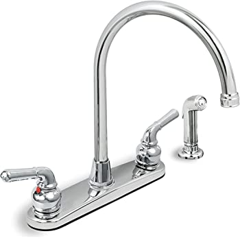 Delta 21902lf Lewiston Two Handle Kitchen Faucet With
