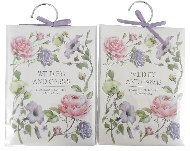 Set Of 2 Fragranced Wardrobe Freshener Sachets - Wild Fig And Cassis marymarygardens