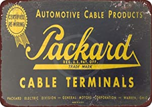 LPLED Wall Decor Sign Packard Cable Terminals Rustic Vintage Aluminum Metal Sign 8x12 Inches (W4098)