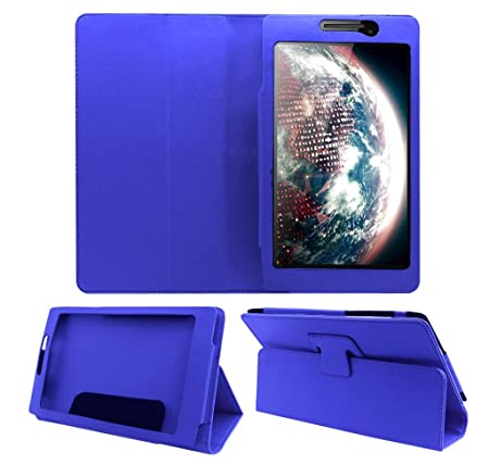 Acm Executive Flip Case Compatible with Lenovo Tab 2 A7 10 A710 Tablet Front  amp; Back Cover Stand Blue