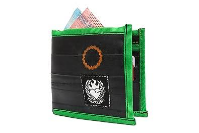 Billetera Vegetariana para Hombres Verdes | Billetera con Cremallera Bifold | del Tubo Interior Reciclado de la Bicicleta | Verde Manzana: Amazon.es: ...