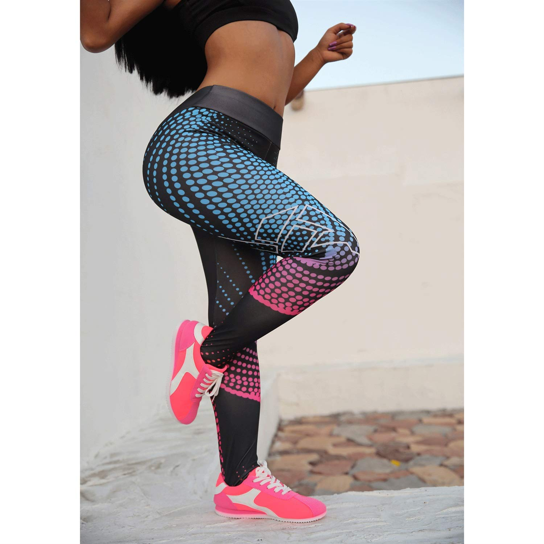 HInku High Waist Leggings Printing Sweatpants Slim Fit Yoga Pants Fitness Pants Casual Pants Female