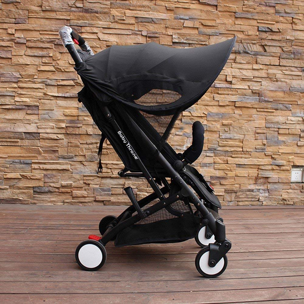 ZLMI Version of Baby Stroller Sun Visor Carriage Sun Shade Canopy Cover for Prams Stroller Accessories Car Seat Buggy Pushchair Cap Sun Hood Black by ZLMI (Image #7)
