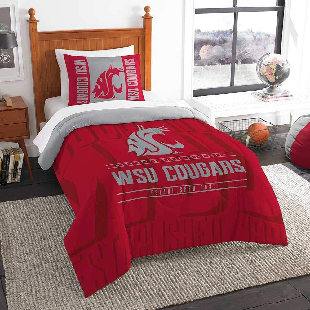 Officially Licensed NCAA TCU Horned Frogs Modern Take Twin Comforter and Sham