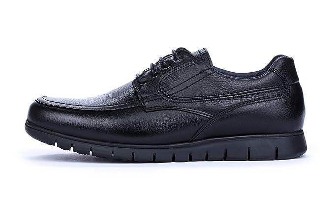 DCalderoni Moncayo Zapatos Piel Negros De Vestir con Cordones para Hombre 40-50 EU: Amazon.es: Zapatos y complementos