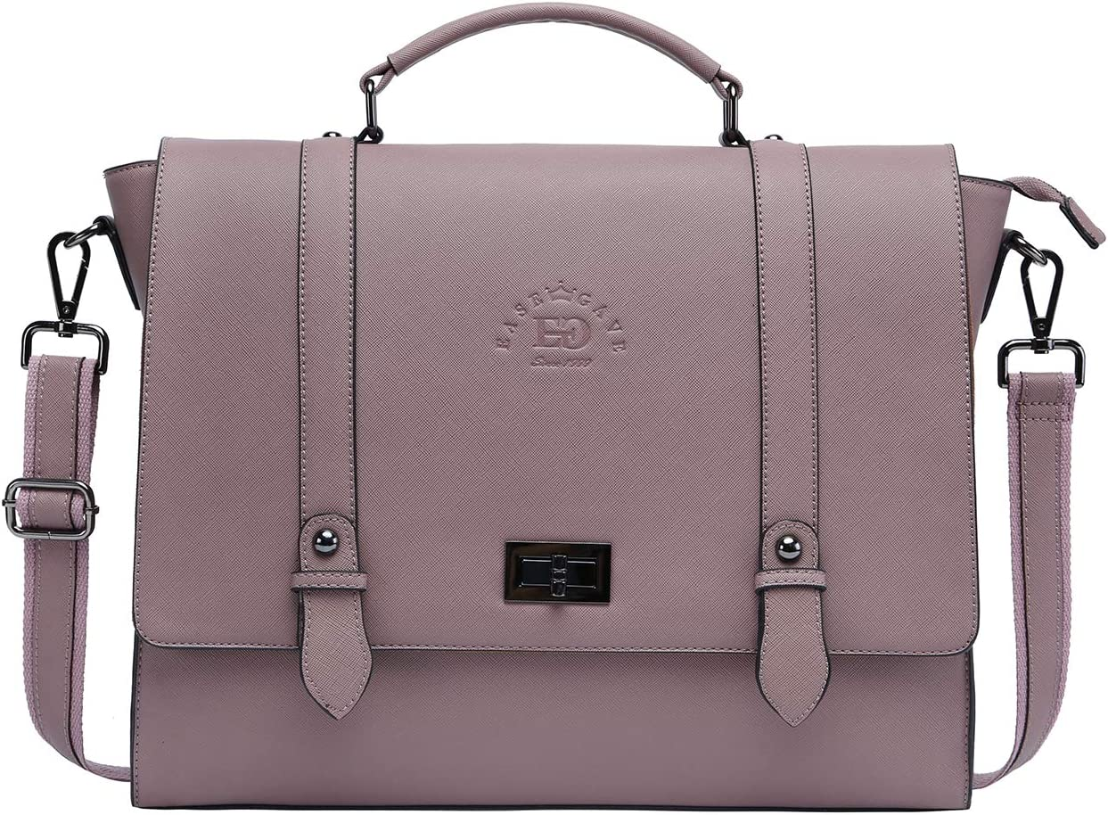 Laptop Briefcase for Women,17 Inch Work Bag Laptop Messenger Bag Spacious Computer Bags for Work Business Travel,purple-17Inch