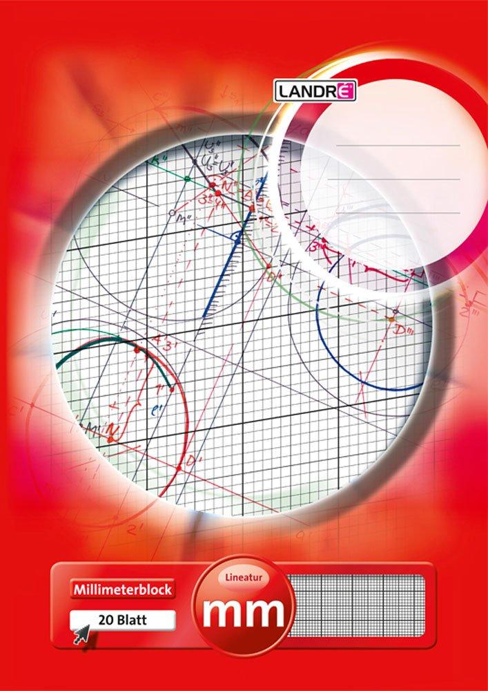 LANDRÉ Bloc de Millimètres–A3–80g/m² | Millimètres de papier–20feuilles–Tête Gel eimt extra-fine ligne A3 1 Stück Hamelin GmbH 100050433