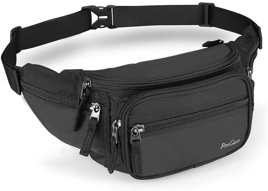 Men Leather Waist Bag Fanny Pack Bag Hip Bum Bag Leather Hiking Waist Bag ForMen