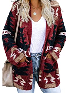 ReneeC Womens Soft Print Long Sleeve Pullover Sweater Knit