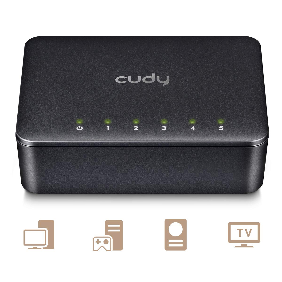 Plug /& Play Gigabit Switch 5-Port Cudy GS105D 5 Port LAN Switch Gigabit LAN Verteiler Netzwerk Switch 5 * 10//100//1000Mbit//s RJ45