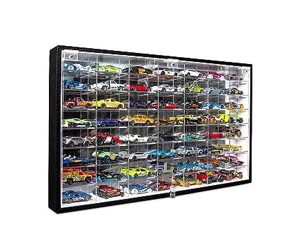 JackCubeDesign Hot Wheels 1/64 Scale Diecast Display Case Storage Cabinet  Shelf Wall Mount Rack