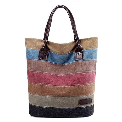 Amazon.com: Road&Cool Bolsas de hombro para mujer, costuras ...