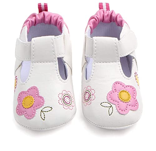 a0acf788f65a5 Amazon.com | MiYuebb Baby Toddler Girl Shoes Size 3 White Leather ...