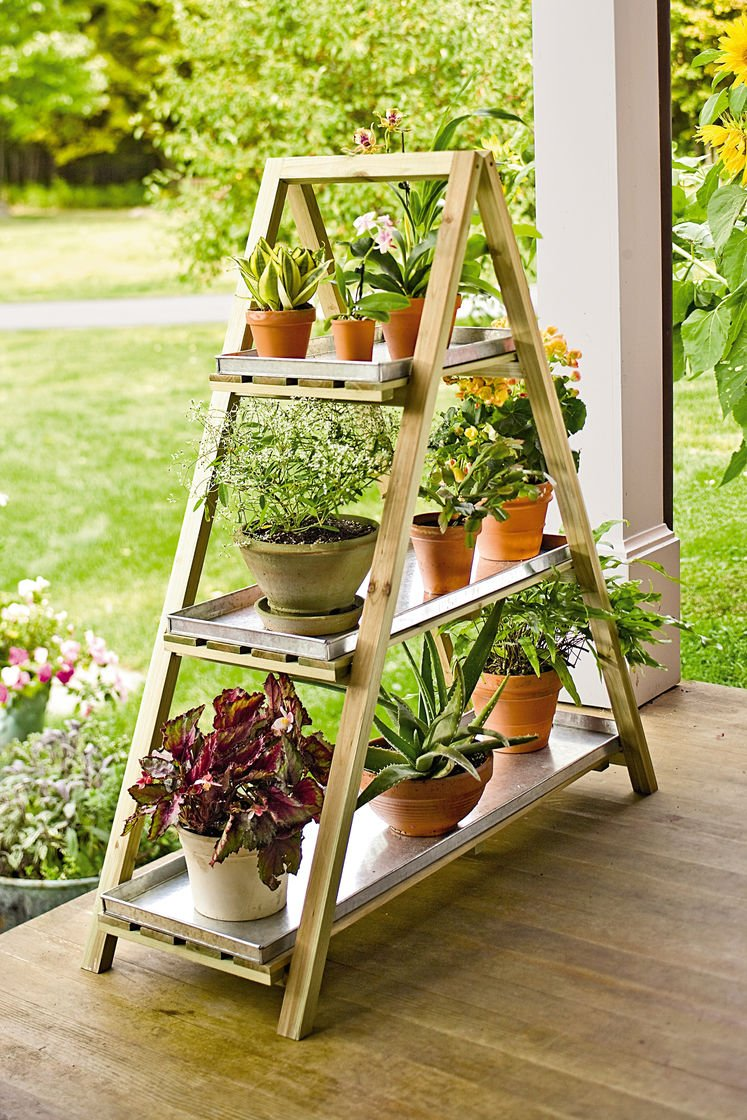 The Wood Garden Plant Pot Shelf/ Stand