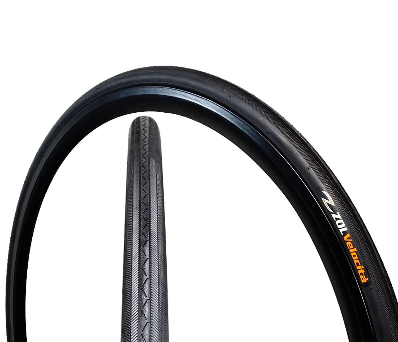 Zol Velocita Road Wire Bike Bicycle Tire 700x25C Z1076 Black