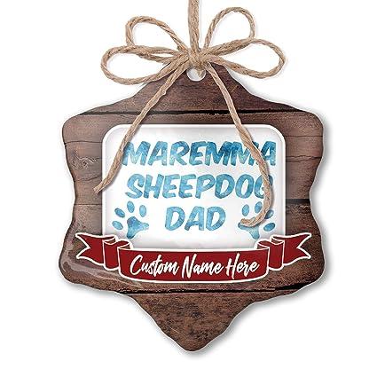 Surprising Amazon Com Neonblond Custom Family Ornament Dog Cat Dad Maremma Funny Birthday Cards Online Necthendildamsfinfo