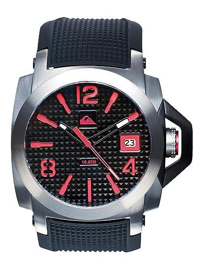 Quiksilver M148JR 8T - Reloj analógico de caballero de cuarzo con correa de plástico roja