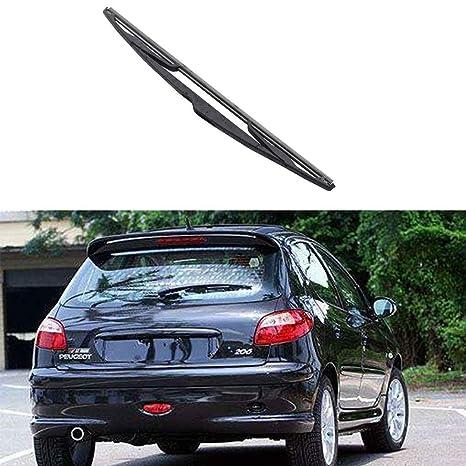 Mengonee Parabrisas del Coche de la Ventana Trasera Brazo del limpiaparabrisas lámina para el Peugeot 206