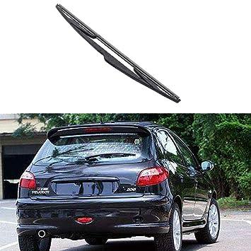 Luckiests Parabrisas del Coche de la Ventana Trasera Brazo del limpiaparabrisas lámina para el Peugeot 206 1998-2009 Auto Parts duraderos: Amazon.es: ...