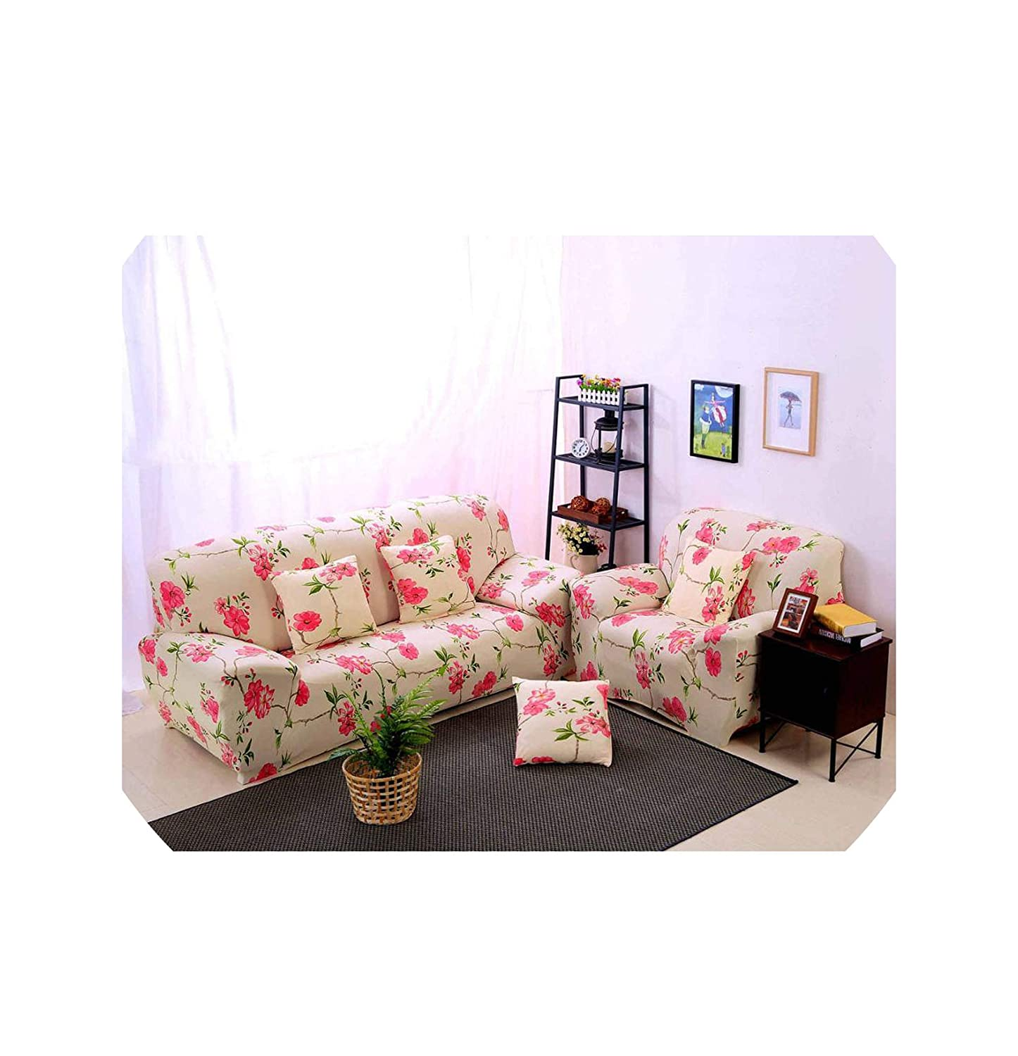Amazing Amazon Com Slipcover Plaid Printed Stretch Niture Sofa Onthecornerstone Fun Painted Chair Ideas Images Onthecornerstoneorg