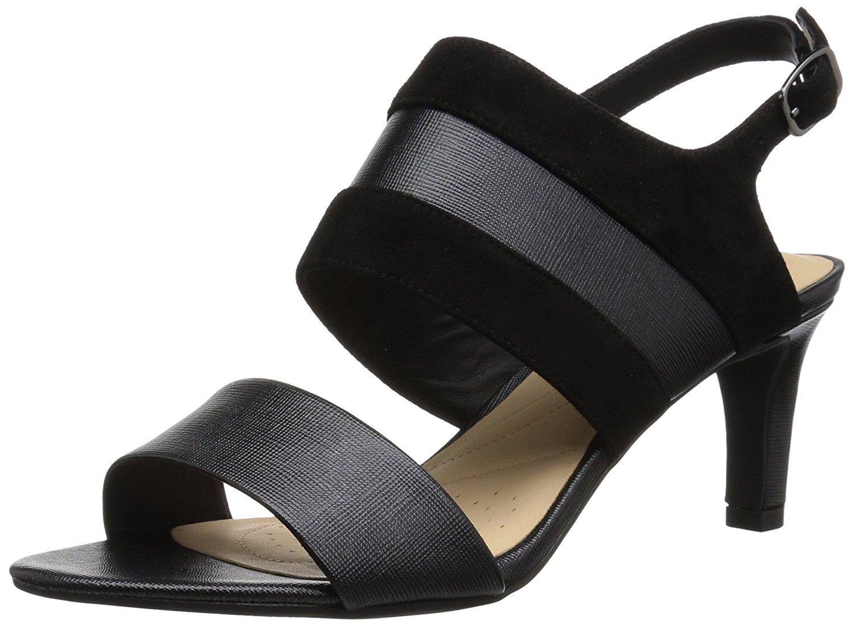 CLARKS Women's Laureti Joy Pump B074KHR836 11 B(M) US|Black Combination Leather
