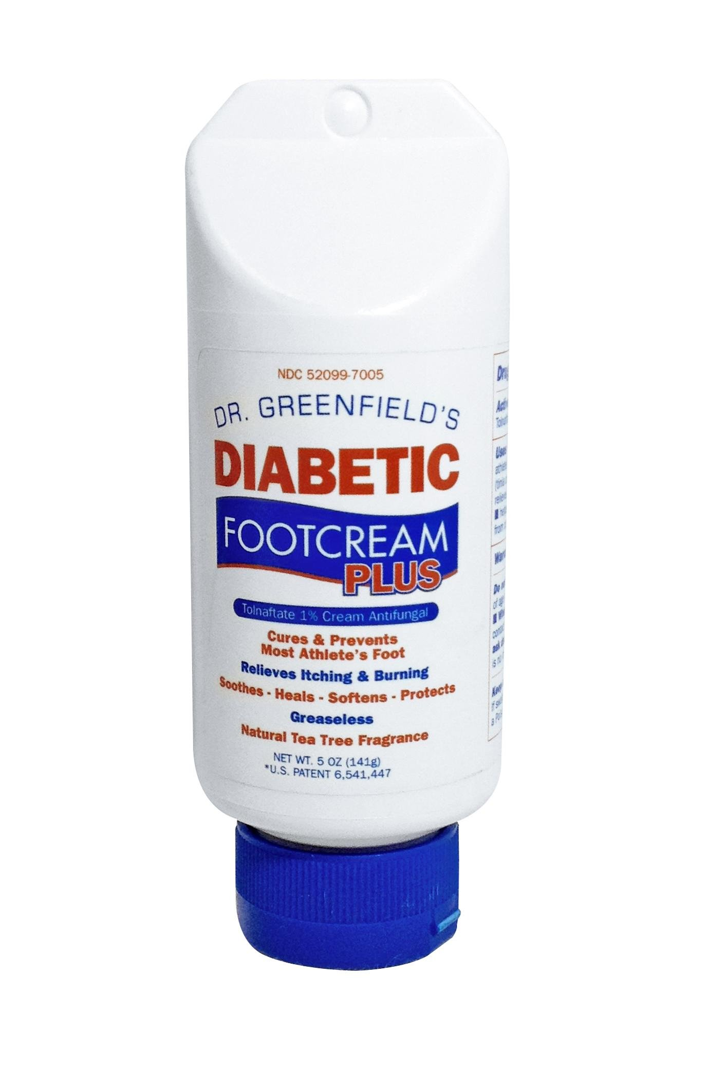 Dr Greenfield's Diabetic FootCream PLUS Antifungal Foot Cream for Athlete's Foot - 5 ounces