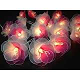 String Lights 20 White-pink Flower Fairy String Lights Wedding Party Floral Home Decor 3.5m