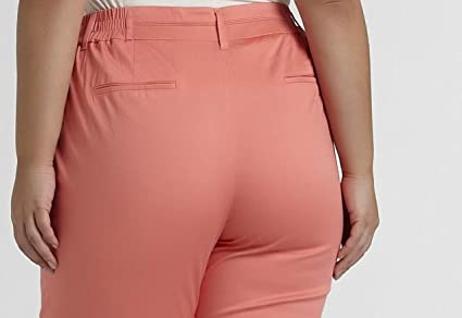 Womens Slim Ankle Pant Day wear Work Office Cruise Plus 1X 2X 3X $48 New