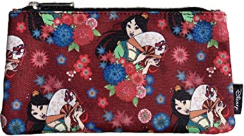 Loungefly Disney Mulan with Fan Print Cosmetic Pouch/Pencil Case