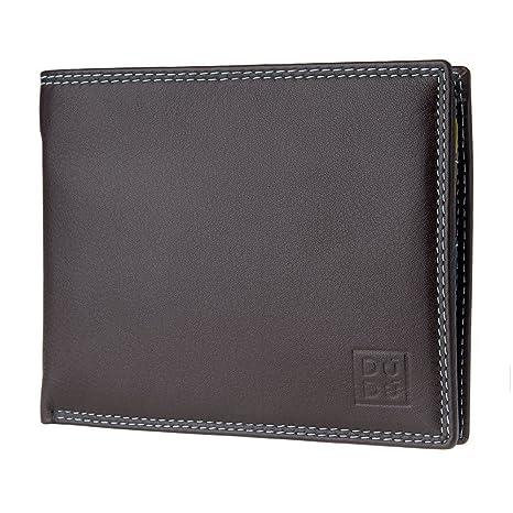 47c8f6c114 DUDU Portafoglio uomo RFID schermato Colorato in Vera Pelle formato  Classico con Portamonete e Porta carte