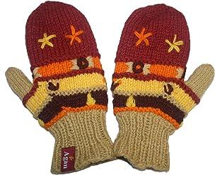a227dd73a8d 1418 Agan Traders Himalayan Knitted Warm Lamb s Wool Women s Fleece-Lined  Hat OR Fingerless Mitten