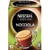 Nescaf Caff Golosi Nocciola Preparato Solubile in Polvere al Caff e Nocciola [12 Confezioni da 10 Buste]