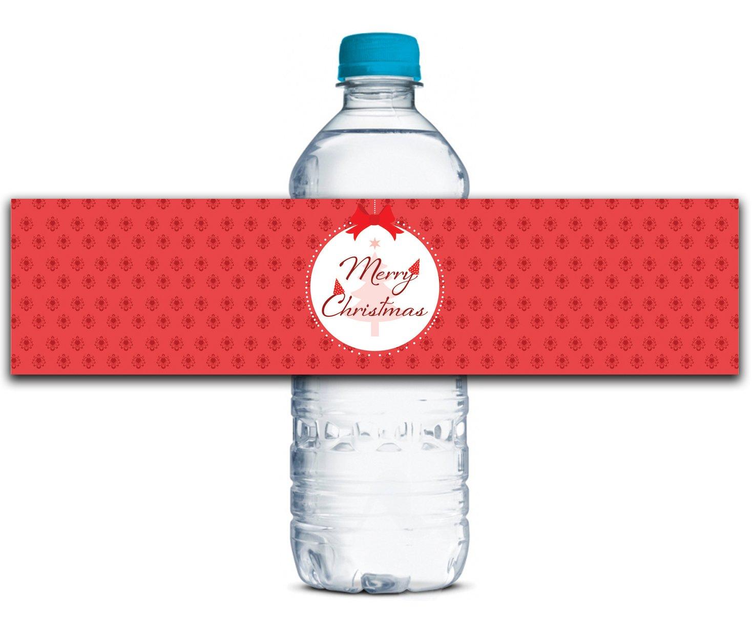 Personalisierte Wasserflasche Etiketten Etiketten Etiketten Selbstklebende wasserdichte Kundenspezifische Weihnachtsaufkleber 8  x 2  Zoll - 50 Etiketten B01A0W7XUW | New Style  4bb856