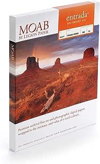 product image for Moab Entrada Rag Fine Art, 2-Side Bright White Matte Inkjet Paper, 22.5 mil, 30