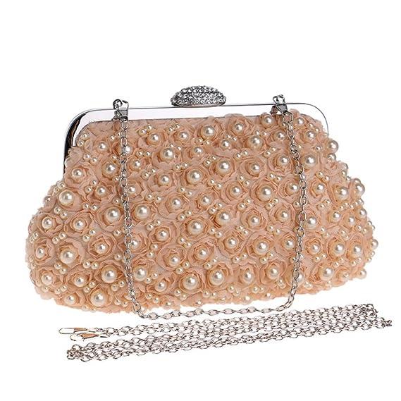 Femmes Vintage embrayages sacs à main sacs de soirée sac à main sac à bandoulière fleur de paillettes perlé pour mariage nuptiale Prom Party hrFaM0T