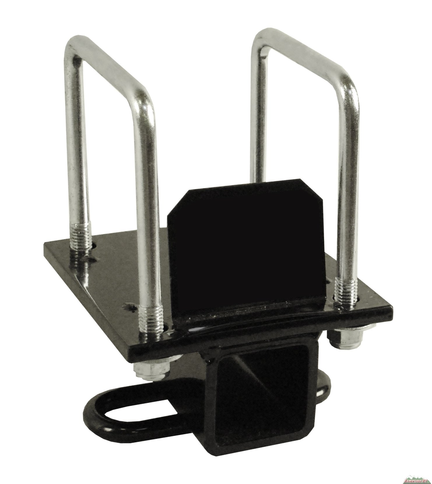 PMD Products RV 4'' Bolt Bumper Hitch Mount Receiver Adapter 3500lbs towing cargo bike rack for Camper Motorhome