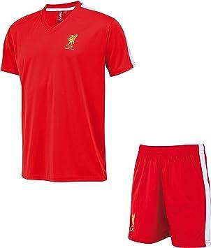 Liverpool Conjunto Camiseta + Pantalones Cortos LFC - Colección Oficial - Talla niño: Amazon.es: Deportes y aire libre