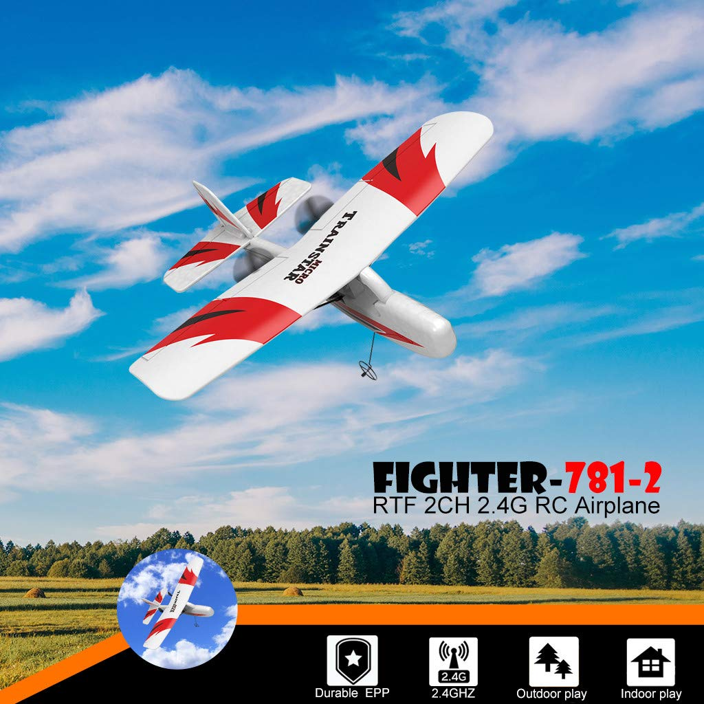SYgerks RC Airplane Remote Control Airplane, 2.4GHz RC Plane Ready to Fly with 2.4GHz Control 3D/6G Mode Conversion, 6-Axis Gyro Easy to Fly for Beginners (White) by SYgerks (Image #2)