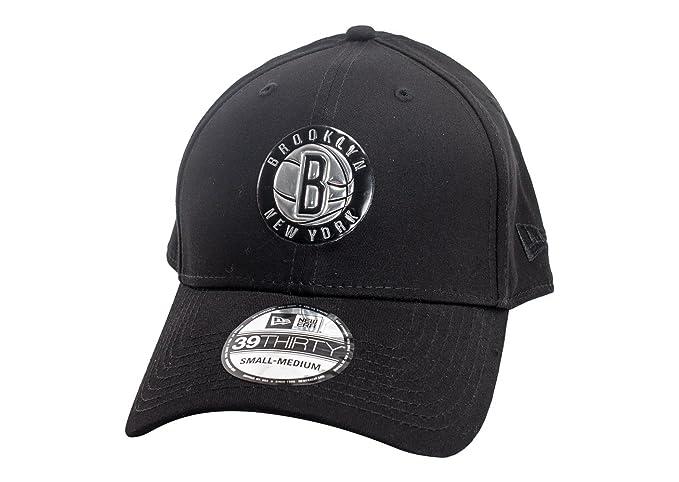 e6f3a8235c14 Gorra New Era - 39Thirty Nba Brooklyn Nets Metallic negro talla: M/L ...