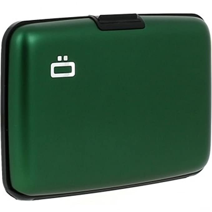 Ogon- Stockholm Green Aluminium credit card holder: Amazon.es: Ropa y accesorios