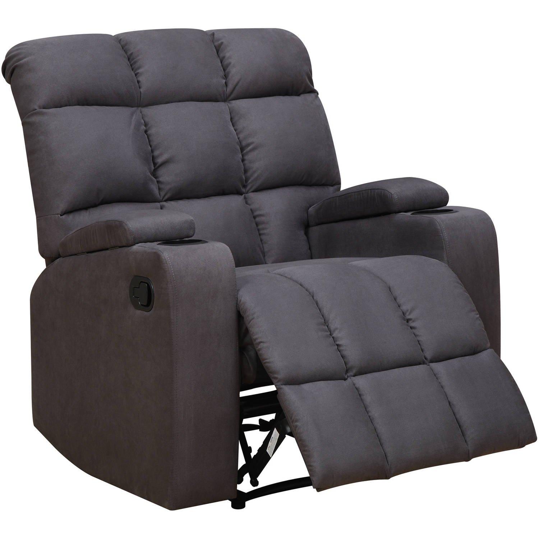 Mainstays Tyler Wall Hugger Storage Arm Recliner Chair, Dark Grey
