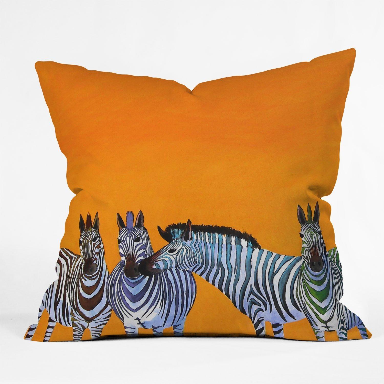 Deny Designs Clara Nilles Lemon Spongecake Sheep Throw Pillow, 16 x 16 12739-thpo16
