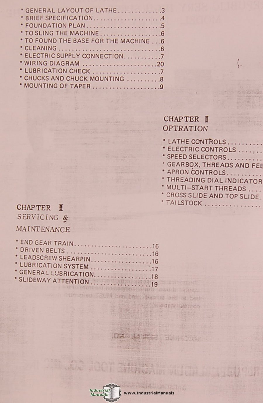 Lagun 1440 1460 1640 1660 Lathe Instructions And Parts Manual Wiring Diagram Books