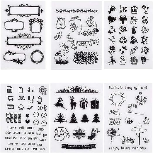 Weishazi Silikon-Stempel mit sch/önem B/är Fotokarten-Dekoration Scrapbooking zum Selbermachen von Alben